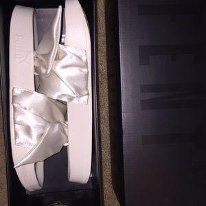 fenty Shoes - All white Fenty by Rihanna Puma Slides!